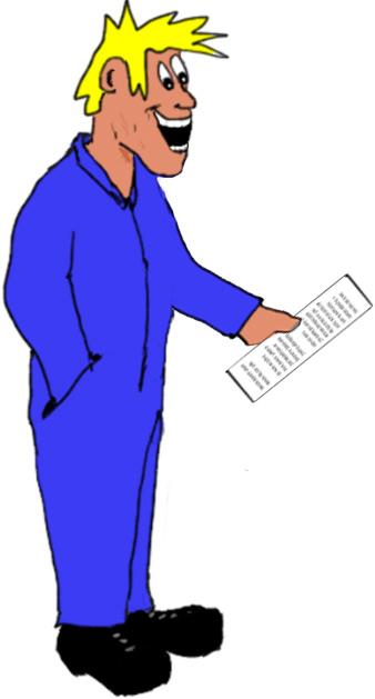 Skrotsverre läser upp brev